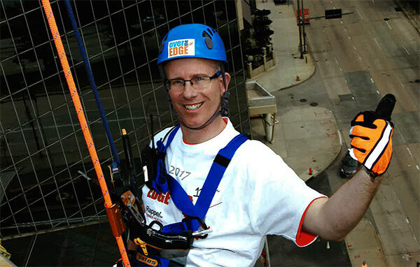 Going Over the Edge for Support Kidney Patients