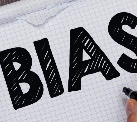 image of the word bias